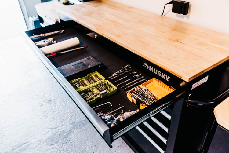 Work Bench Storage- perfect for tool organization