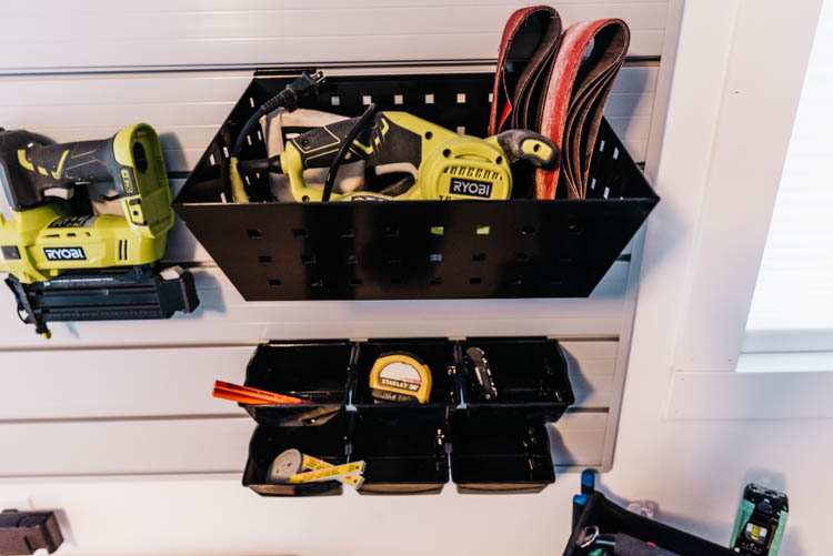 Track Wall for Tool Storage in garage