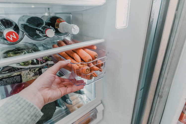 Clear plastic containers for in fridge storage