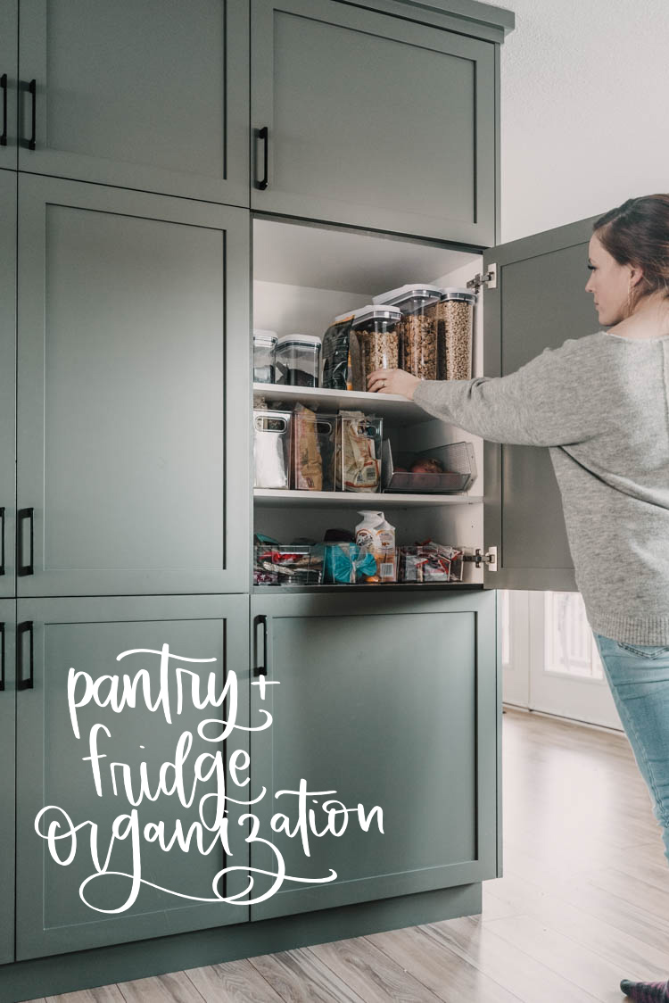 Pantry + fridge organization tips for families