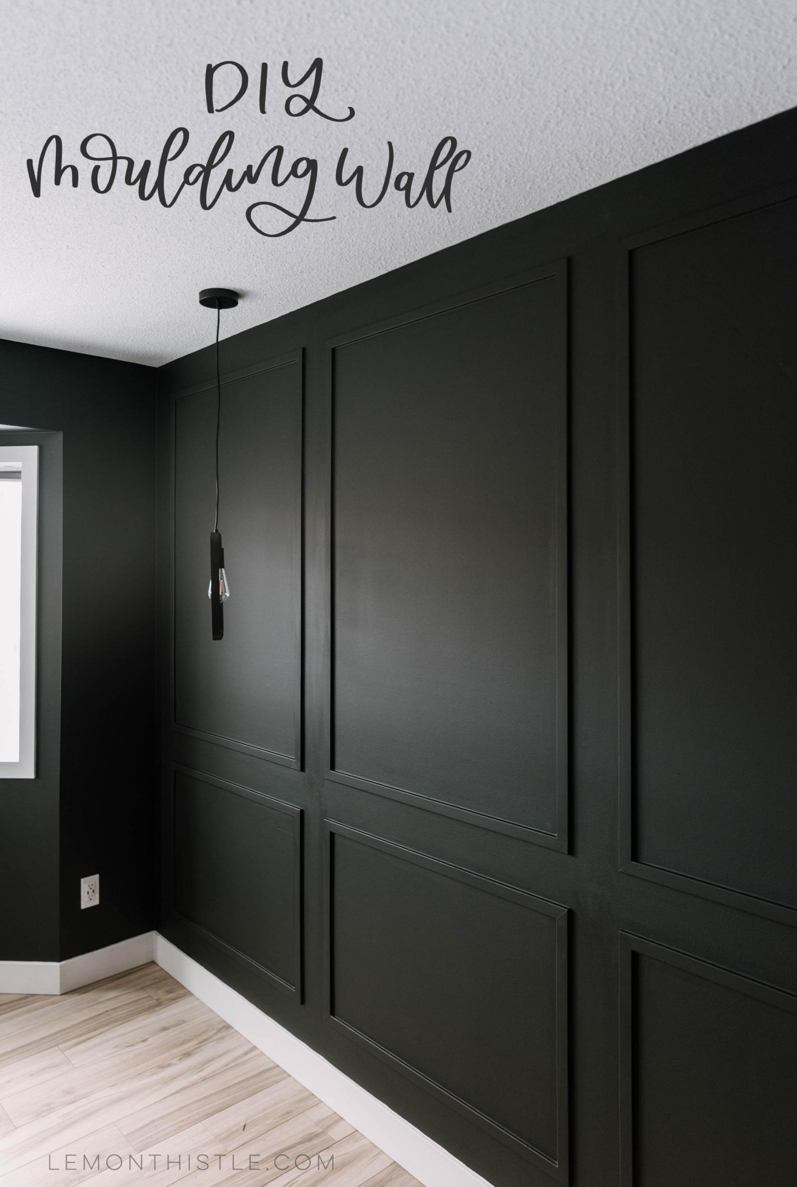 Master Bedroom Diy Moulding Wall Lemon Thistle