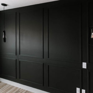 Moody black moulding wall DIY