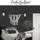 Black Bedroom Design Plans collage with text overlay