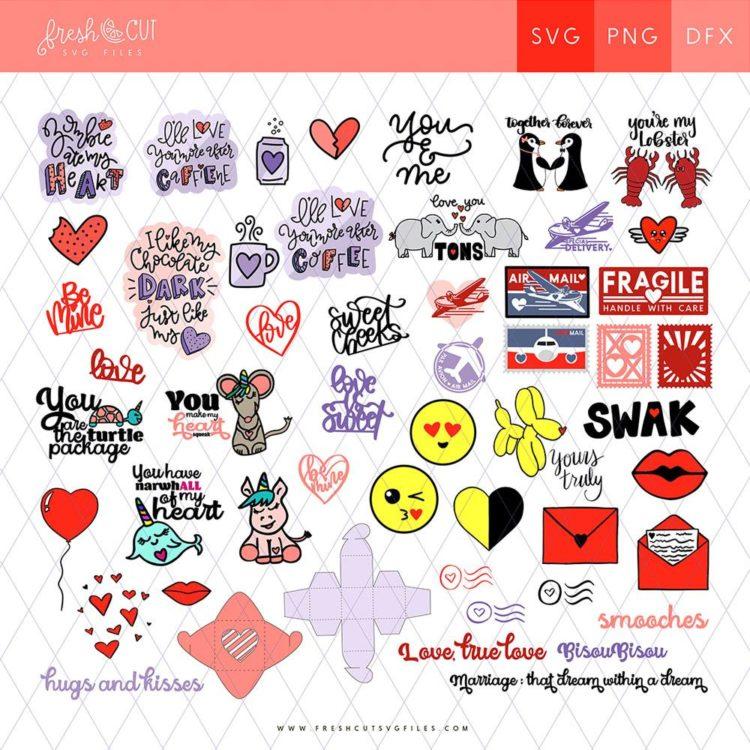 Love Notes Cut File Bundle- such gorgeous SVGs!