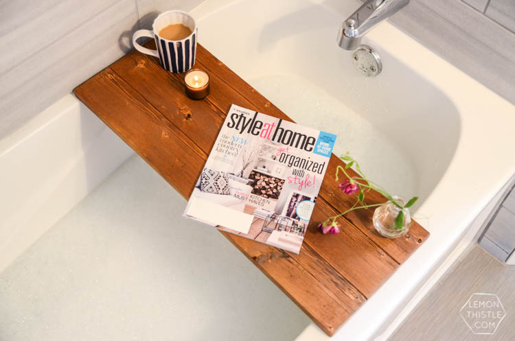 DIY Wooden bath caddy- perfect gift!