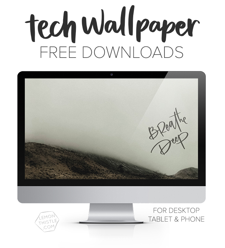 New hand lettered tech wallpapers every month for your phone ipad and computer!