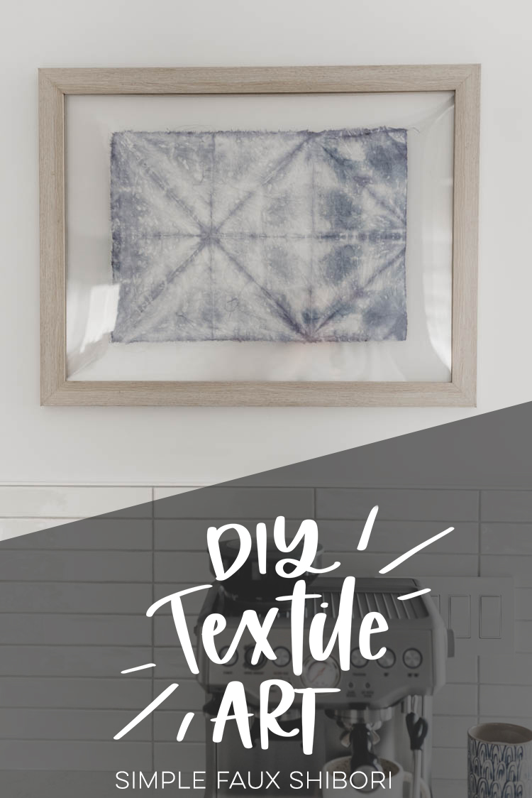 DIY Textile art- simple faux shibori tutorial
