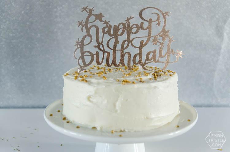 DIY Happy Birthday Cake Topper