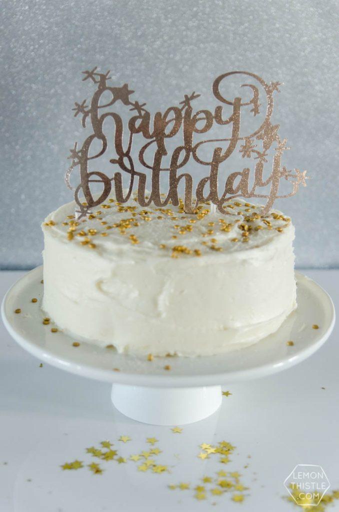Free Happy Birthday Cake Topper Cut File