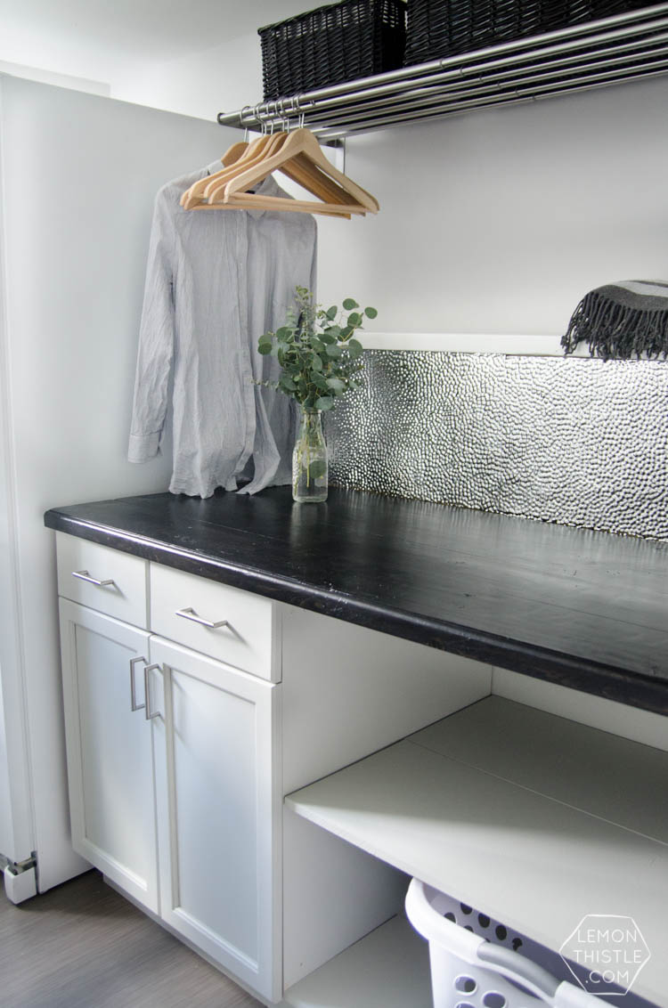 DIY Wooden Countertop for the laundry room