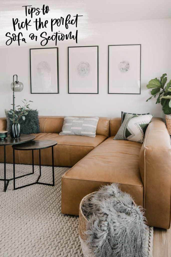 Tips to pick the perfect sofa or sectional for your home