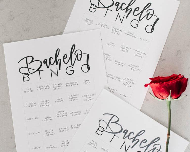 Free Printable Bachelor Bingo! 8 versions