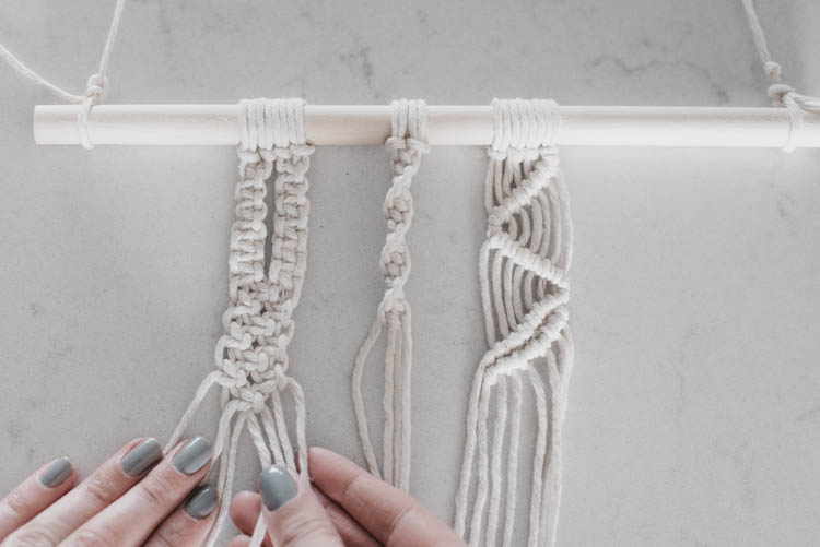 The 4 basic macrame knots you need for almost any wall hanging