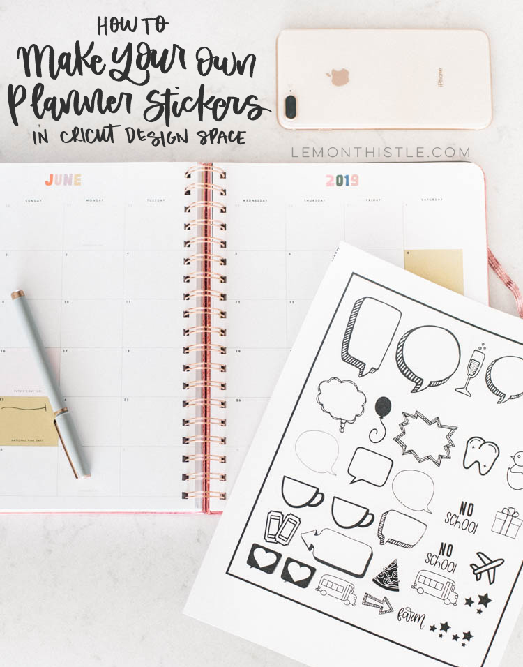 How to make planner stickers in Cricut Design Space using print then cut