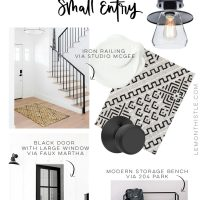 Modern + Functional Small Entry Design Board