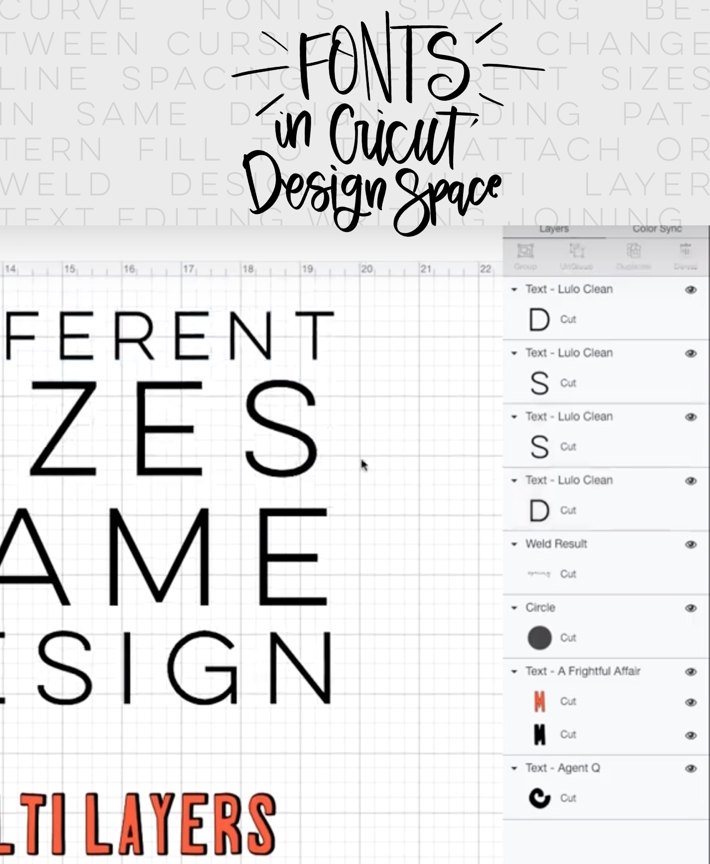 How to use text and fonts in Cricut Design Space - Lemon Thistle