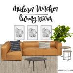 Modern Rancher Living Room Plans!