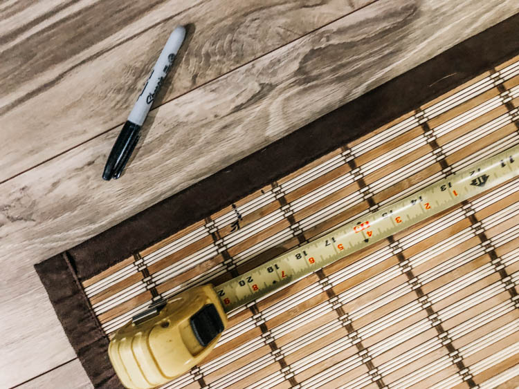 Measure your bamboo curtains to make into wood shades