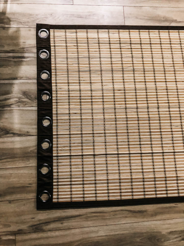 DIY Wood Blinds from an affordable curtain panel
