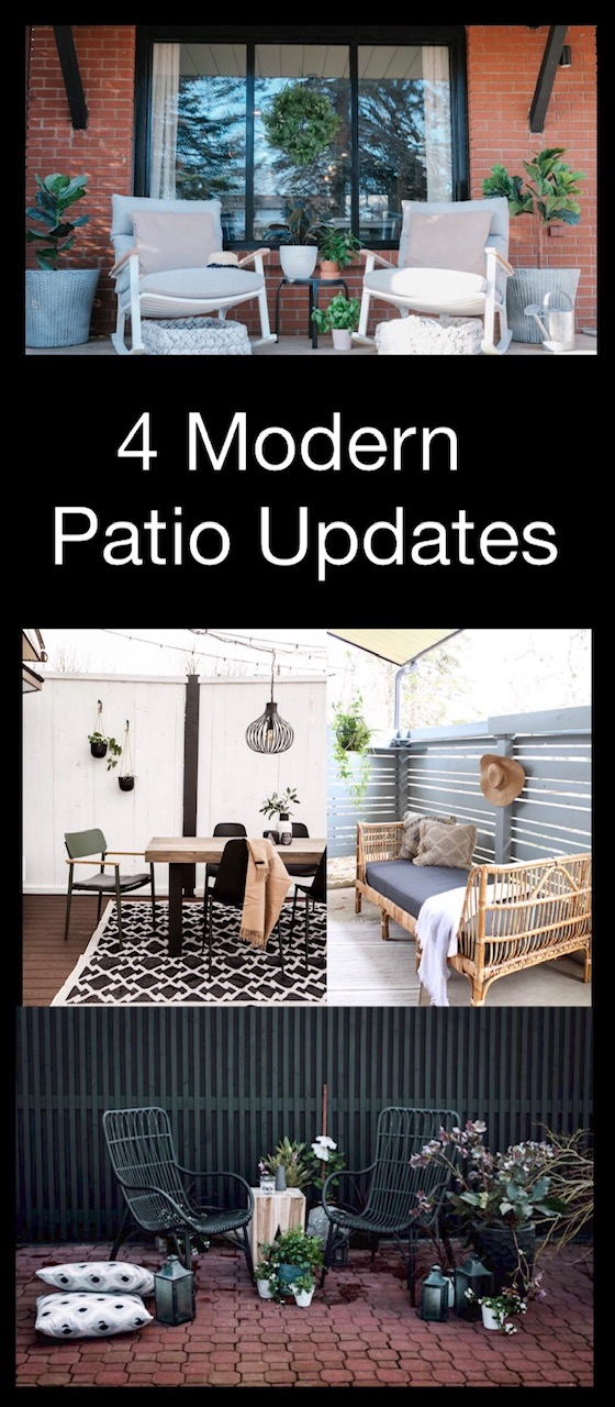 4 Modern Patio Updates and tips to make them happen!