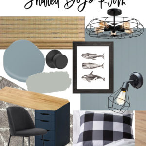 Blue Nordic Boys Bedroom design with industrial touches