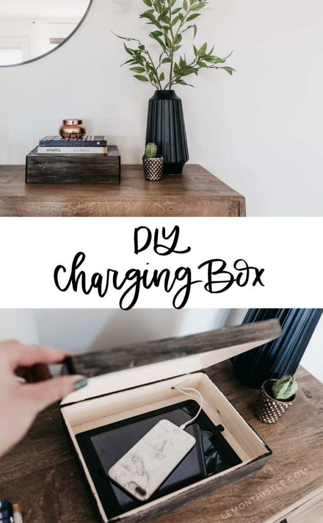 DIY Charging box for phone and ipad... you would never know! Such a great way to limit phone usage too