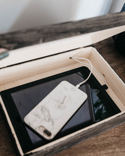 DIY Charging box for phone and ipad... you would never know!
