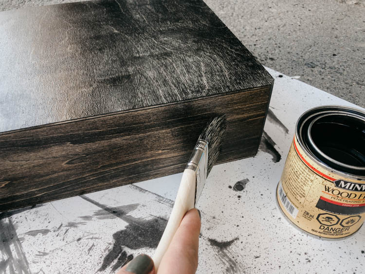 The BEST black stain for wood projects (hidden phone charger DIY)