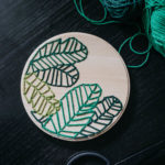 How To Embroider On Wood – Botanical Embroidery Hoop