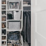 How To Organize an Entry Way Closet / Make the Most of an Awkward Closet Shape