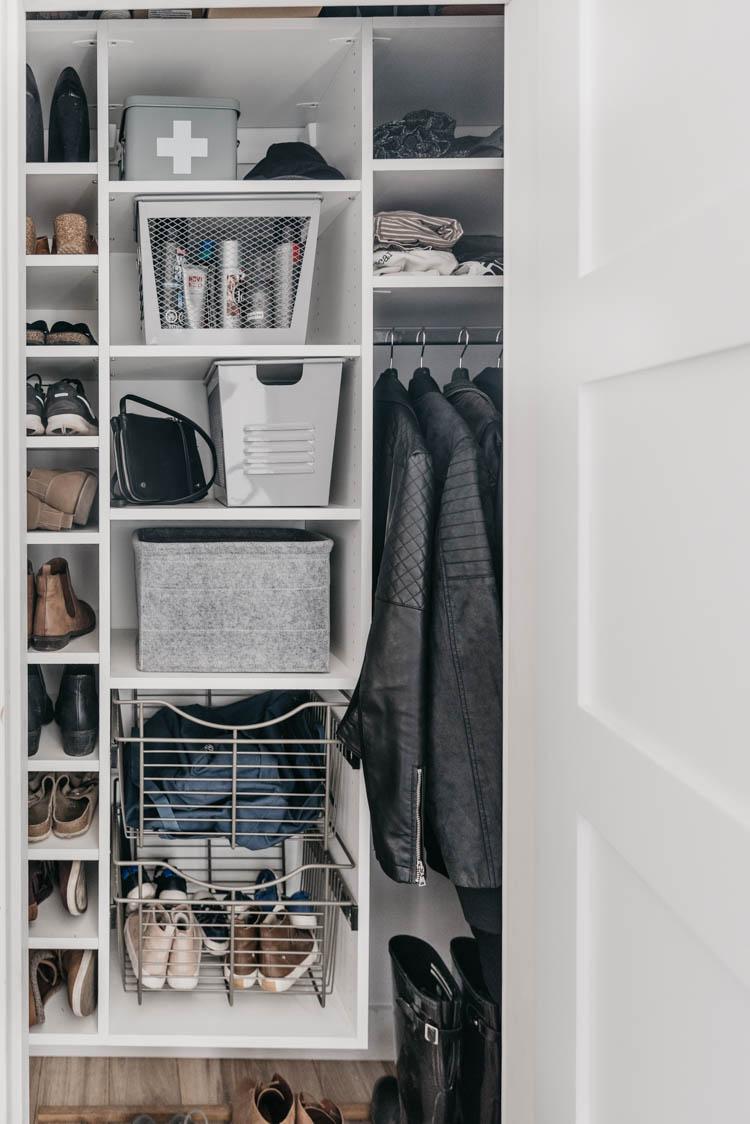 How To Organize An Entry Way Closet / Make The Most Of An Awkward Closet  Shape