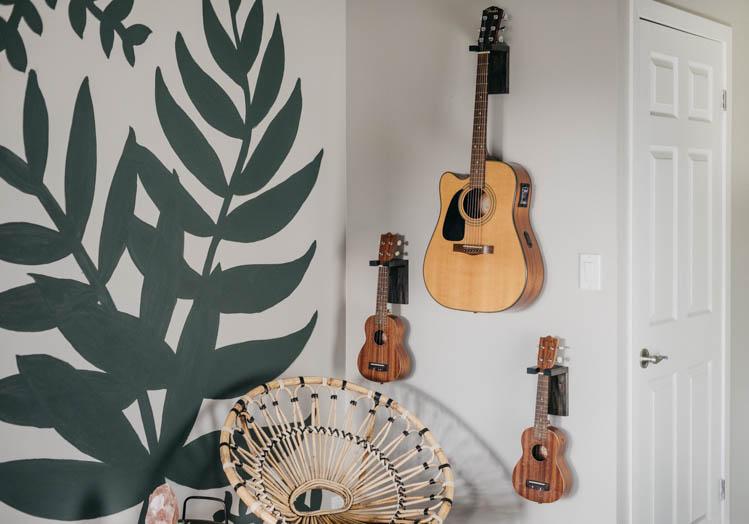 DIY Wall Mount Guitar Holders