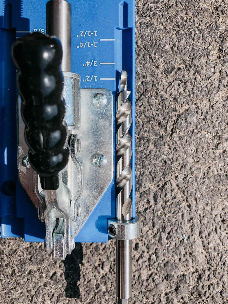 Adjust the bumper for your Kreg Jig drill bit