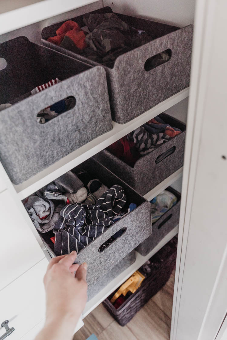 How to pick baskets for kids closet- to make the most of your space