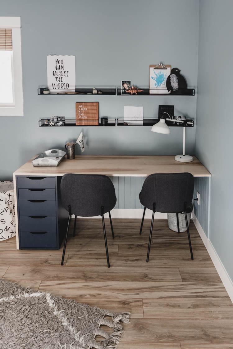 Plywood DIY Double Desk: IKEA Hack! - Lemon Thistle