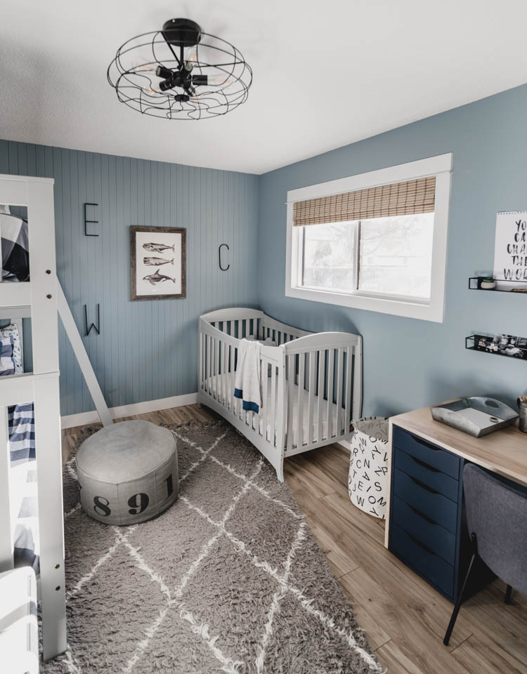 Nordic Industrial Style for a little boys shared bedroom that will grow with them- full of DIY!