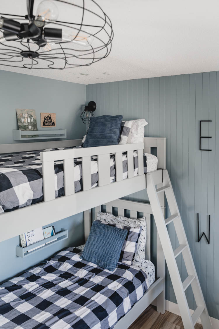 Buffalo Check Bedding for a Nordic Bedroom for three boys