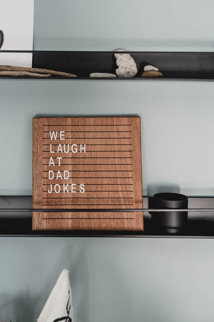 Wooden letterboard for kids room- little dish to hold all the letters for them