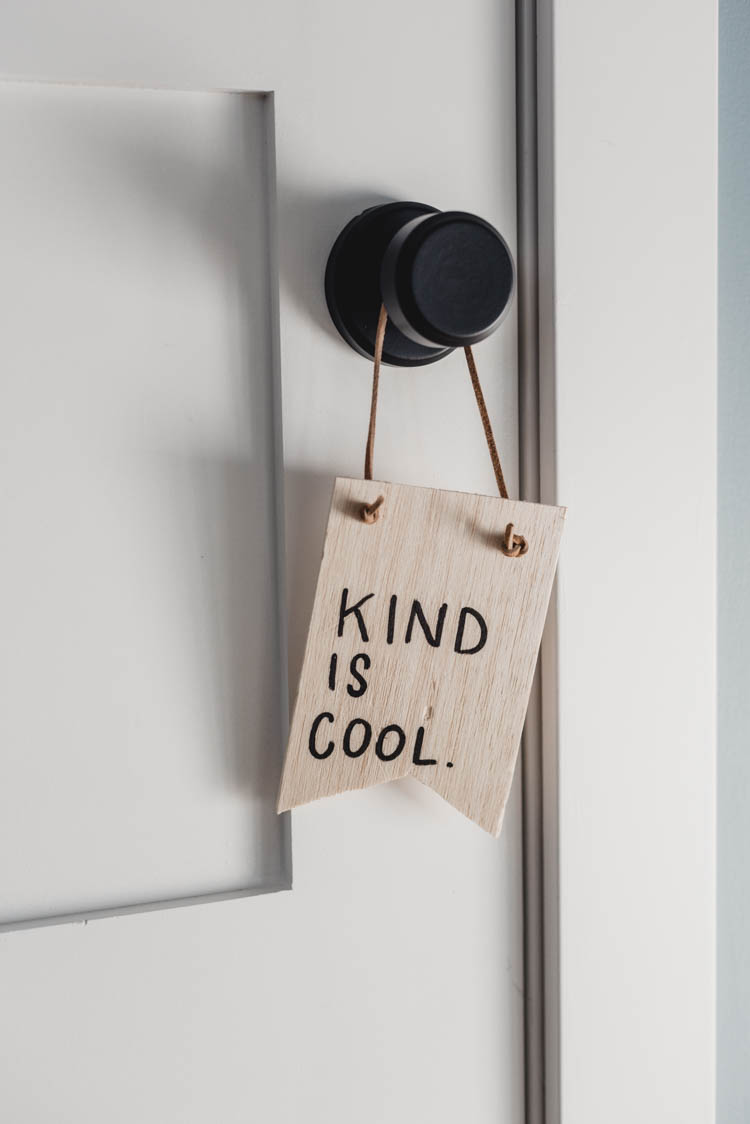 Kind is Cool - DIY Wooden Pennant for kids room