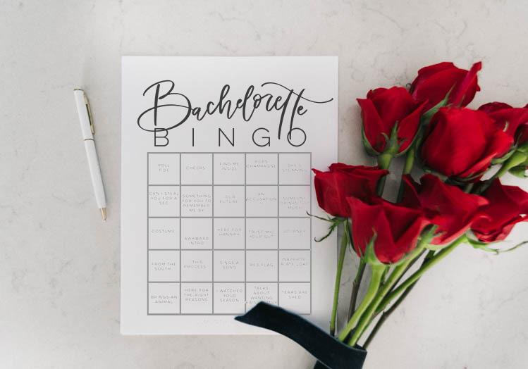 Free Printable Bachelorette Bingo - so fun! Hannah's season 15 premiere