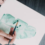 Simple Watercolor Botanical Art for Summer