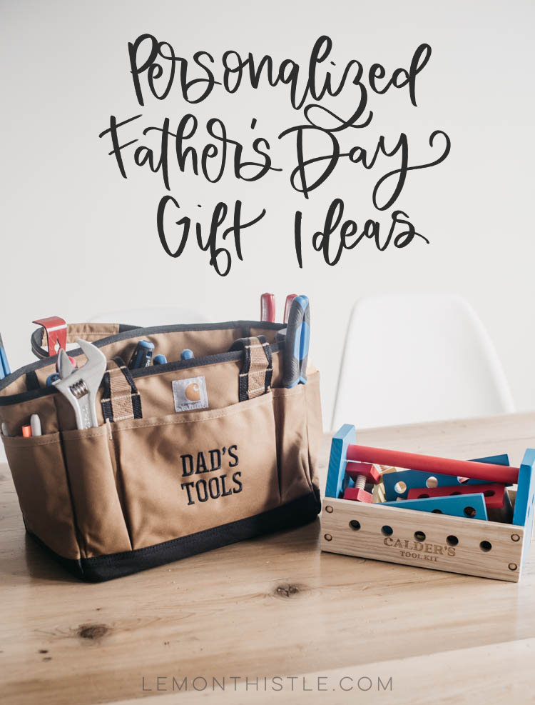 Daddy and Me Tool Kits for Father's Day - First Father's Day Gift Idea... Personalized gifts are the best! Perfect for a handy dad