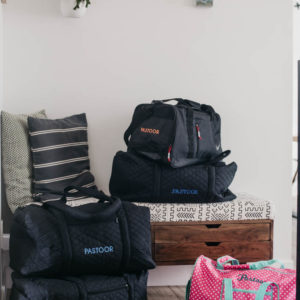 Matching duffel bags for the whole family! These are perfect for travelling with the embroidered names- the perfect gift for travellers!
