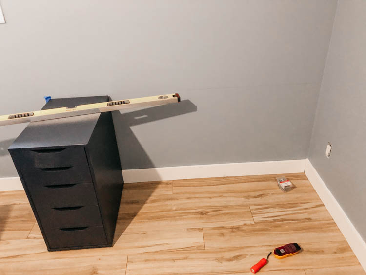 Measuring for a built in desk using IKEA alex drawers