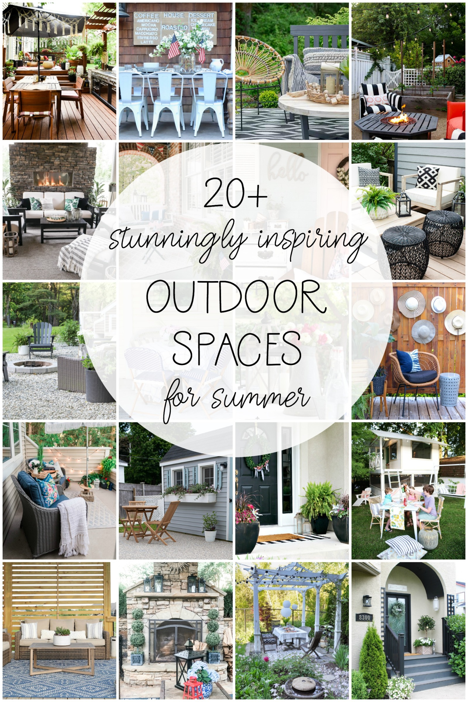Beautiful patio decor for summer!