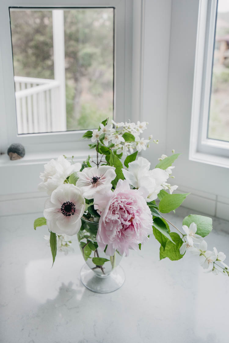 Beautiful summer floral arrangement from the garden