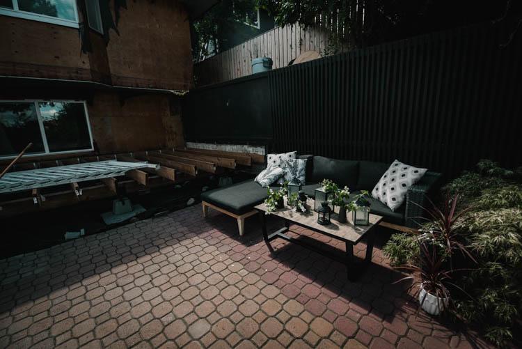 Summer patio under construction