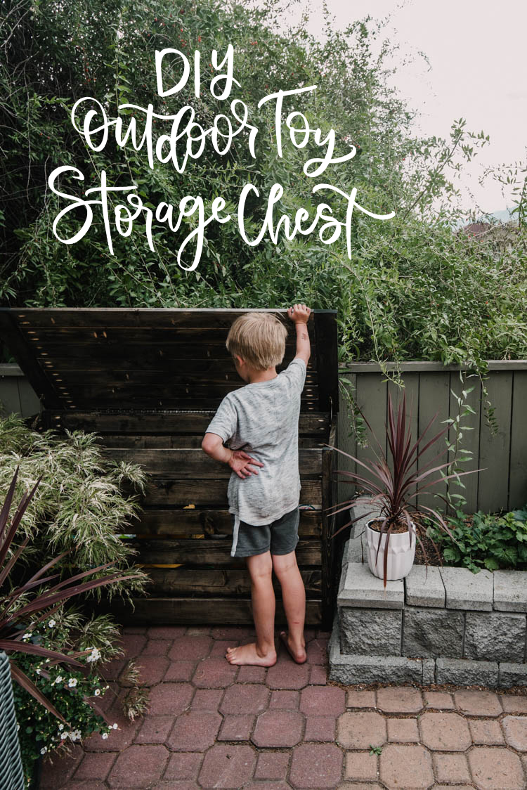 Diy Outdoor Toy Storage Chest Lemon Thistle