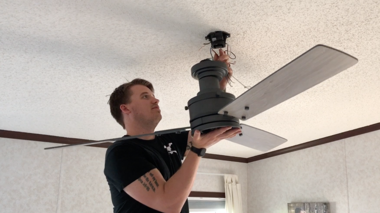 How to install a ceiling fan on a sloped ceiling