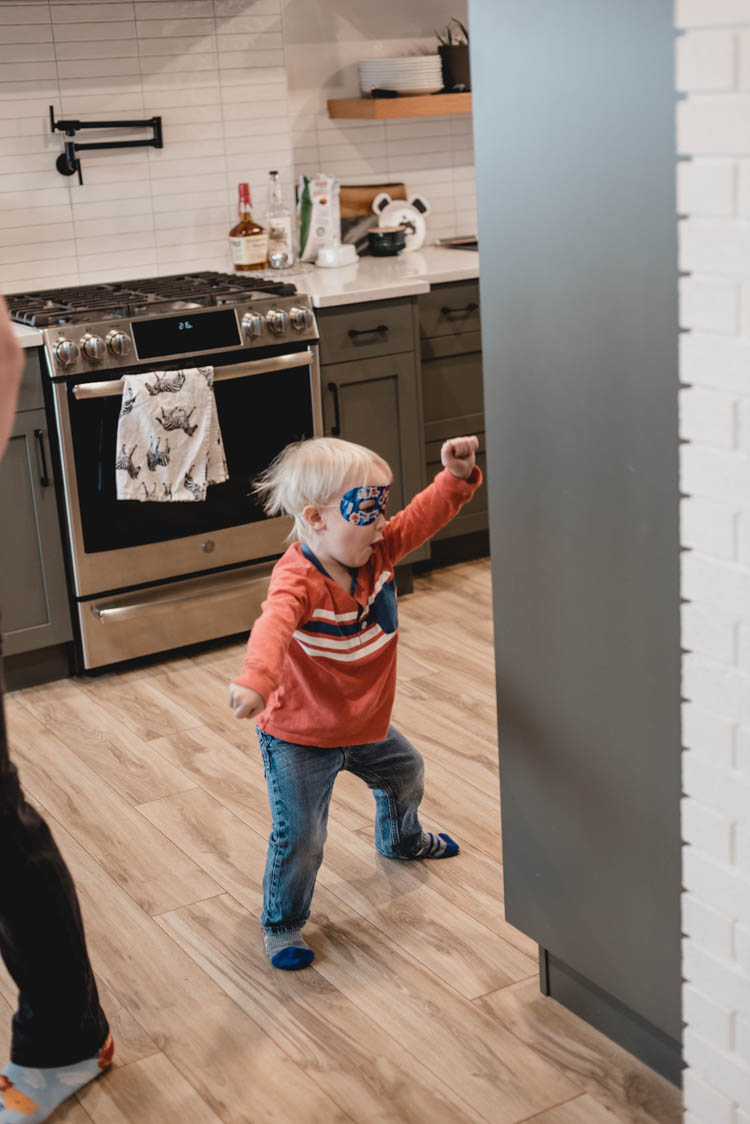 Superhero birthday party for a three year old
